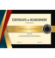 luxury certificate template with elegant black vector image vector image