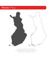 map finland isolated black vector image vector image