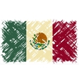 Mexican grunge flag vector image vector image