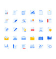 office and management document icons set vector image