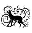 ornamental black cat vector image