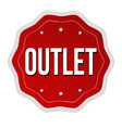 outlet label or sticker vector image vector image
