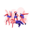 person dancing breakdance freestyle party youth vector image