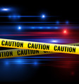 police lights and caution tapes vector image vector image