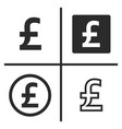 pound currency symbol set vector image vector image
