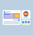 profiles and video communication web app vector image