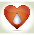 Red heart drop vector image