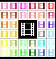 reel of film sign felt-pen 33 colorful vector image vector image