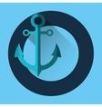 sea nautical anchor vector image