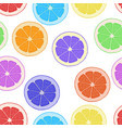 seamless pattern background citrus vector image