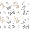 seamless pattern with hand painted leaves in vector image vector image