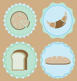 Set of homemade bakery icon color badges vector image