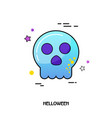 skull icon halloween sticker vector image vector image