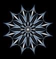 snowflake sign winter symbol graphic design vector image