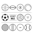 sports balls for football basketball tennis vector image vector image