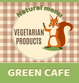 squirrel green cafe banner vector image vector image