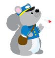 Squirrel Postman vector image vector image