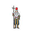 swiss guard of vatican in national uniform isolate vector image