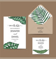 template for wedding invitation vector image vector image