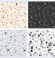 terrazzo textures set seamless terrazzo vector image vector image