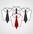 tie and shirt design business flat concept vector image vector image