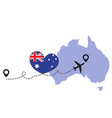travel to australia airplane concept vector image vector image