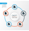 types icons set collection of ico page xml and vector image vector image