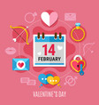 valentines day composition vector image vector image