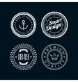 vintage badges white 3 vector image vector image