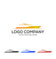 yacht logo simple of yacht icon for web vector image vector image