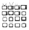 tv icon in trendy flat style isolated on white vector image