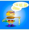 burger say i do not like cheese vector image