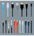 data cable connectors vector image