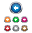 Left arrow buttons vector image