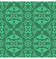 Abstract seamless pattern with vintage green vector image vector image