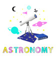 astronomy poster and title vector image vector image