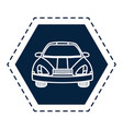 autonomus car sign vector image vector image