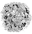 baby cartoon doodle funny children vector image