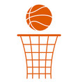 ball and basket vector image vector image