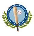 baseball bat design vector image vector image