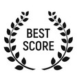 best score award icon simple style vector image