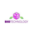 bio technology abstract floral logo elegant style vector image vector image