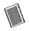 blank notebook icon vector image vector image