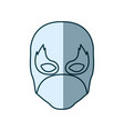blue silhouette with face of man superhero and vector image vector image