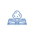 book of knowledge line icon concept book of vector image vector image