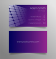 Business card template - modern purple design vector image vector image