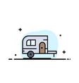 caravan camping camp travel business logo vector image