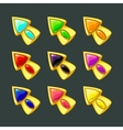 Cartoon golden arrows vector image vector image