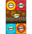 comic carnival colorful composition vector image vector image