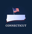 connecticut state isometric map and usa natioanl vector image vector image